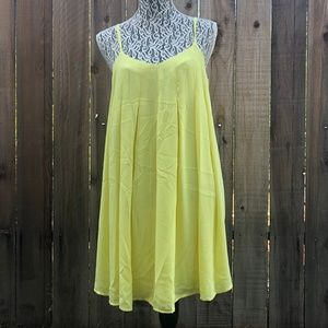 One Clothing Bright Yellow Flowy Pleated Dress
